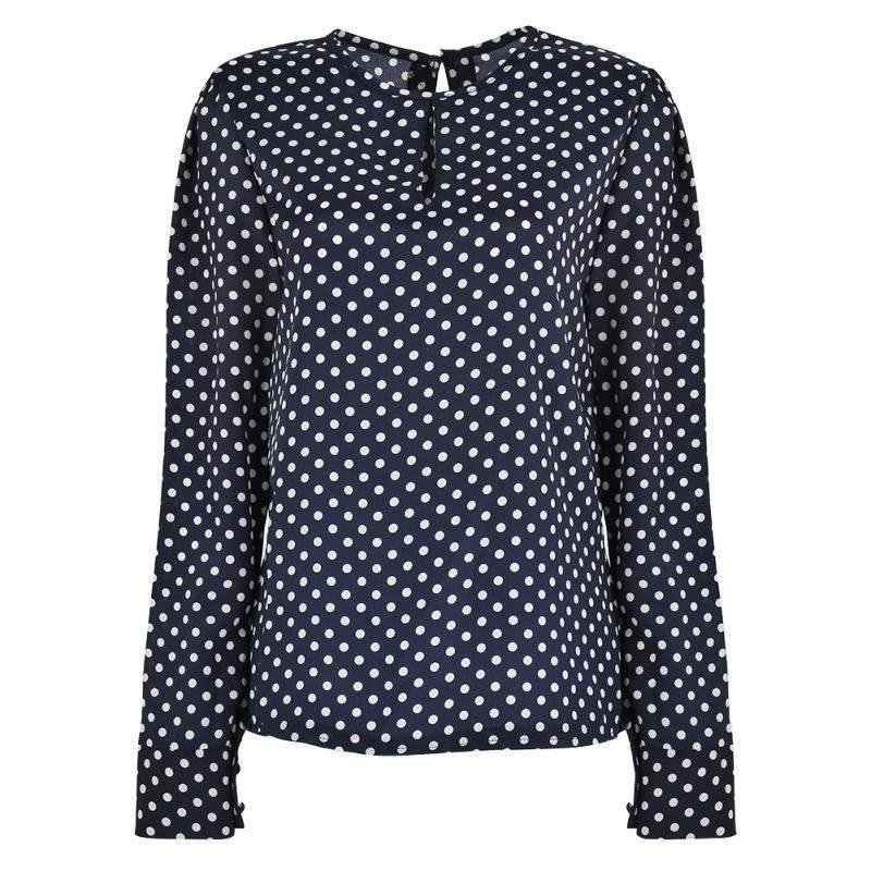 Женская блузка в горошек на Алиэкспресс
